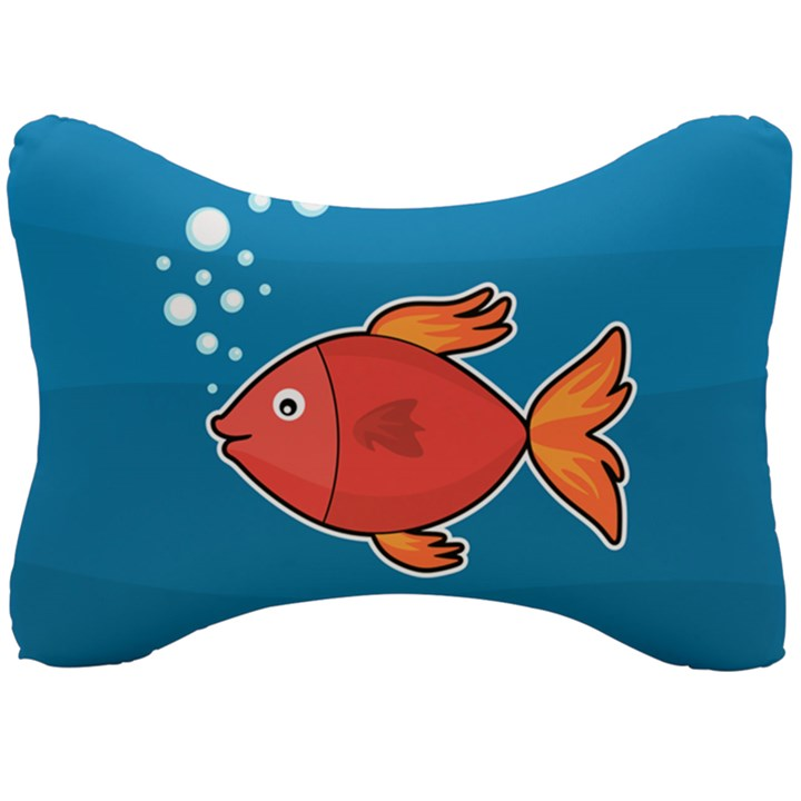 Sketch Nature Water Fish Cute Seat Head Rest Cushion