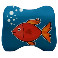 Sketch Nature Water Fish Cute Velour Head Support Cushion