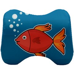 Sketch Nature Water Fish Cute Head Support Cushion