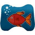Sketch Nature Water Fish Cute Head Support Cushion View1