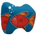 Sketch Nature Water Fish Cute Head Support Cushion View3