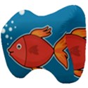Sketch Nature Water Fish Cute Head Support Cushion View4