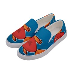 Sketch Nature Water Fish Cute Women s Canvas Slip Ons by HermanTelo