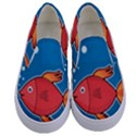Sketch Nature Water Fish Cute Kids  Canvas Slip Ons View1