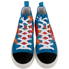 Sketch Nature Water Fish Cute Men s Mid Top Canvas Sneakers
