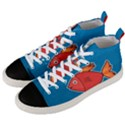 Sketch Nature Water Fish Cute Men s Mid-Top Canvas Sneakers View2