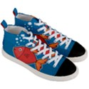 Sketch Nature Water Fish Cute Men s Mid-Top Canvas Sneakers View3
