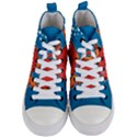 Sketch Nature Water Fish Cute Women s Mid-Top Canvas Sneakers View1