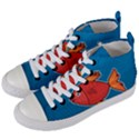 Sketch Nature Water Fish Cute Women s Mid-Top Canvas Sneakers View2