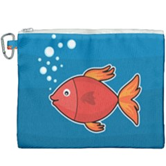 Sketch Nature Water Fish Cute Canvas Cosmetic Bag (xxxl) by HermanTelo