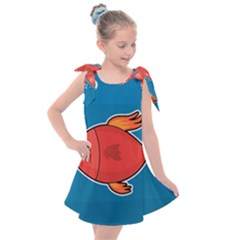 Sketch Nature Water Fish Cute Kids  Tie Up Tunic Dress by HermanTelo