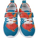 Sketch Nature Water Fish Cute Kids  Velcro Strap Shoes View1