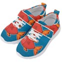 Sketch Nature Water Fish Cute Kids  Velcro Strap Shoes View2