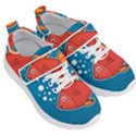 Sketch Nature Water Fish Cute Kids  Velcro Strap Shoes View3