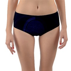 Technology Eye Reversible Mid Waist Bikini Bottoms