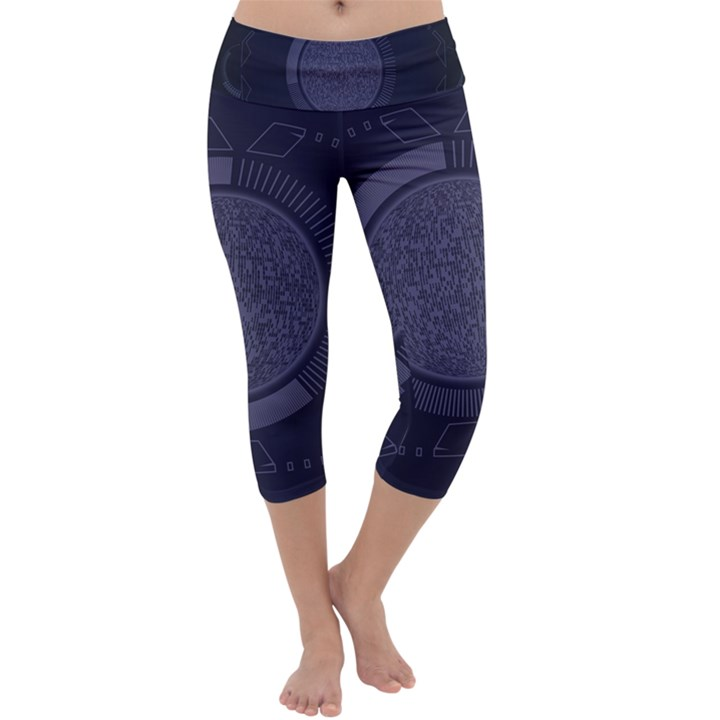 Technology Eye Capri Yoga Leggings