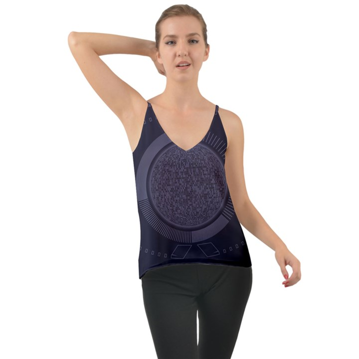 Technology Eye Chiffon Cami