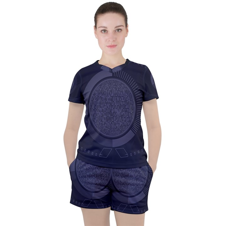 Technology Eye Women s Tee and Shorts Set