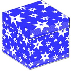 Star Background Pattern Advent Storage Stool 12   by HermanTelo