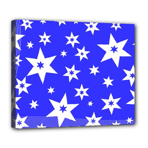 Star Background Pattern Advent Deluxe Canvas 24  X 20  (stretched)