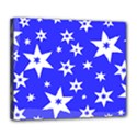 Star Background Pattern Advent Deluxe Canvas 24  x 20  (Stretched) View1