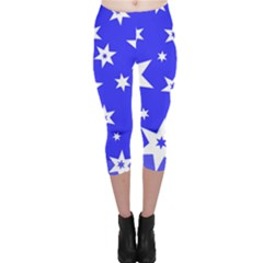 Star Background Pattern Advent Capri Leggings