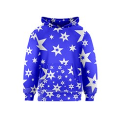 Star Background Pattern Advent Kids  Pullover Hoodie