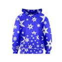 Star Background Pattern Advent Kids  Pullover Hoodie View1