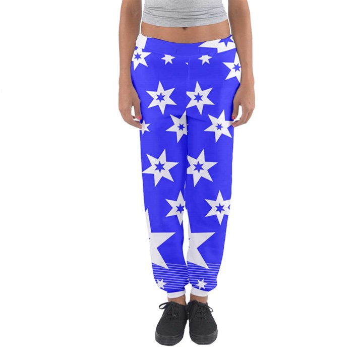 Star Background Pattern Advent Women s Jogger Sweatpants