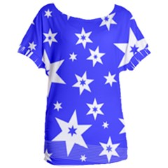 Star Background Pattern Advent Women s Oversized Tee by HermanTelo
