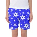 Star Background Pattern Advent Women s Basketball Shorts View1