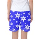 Star Background Pattern Advent Women s Basketball Shorts View2