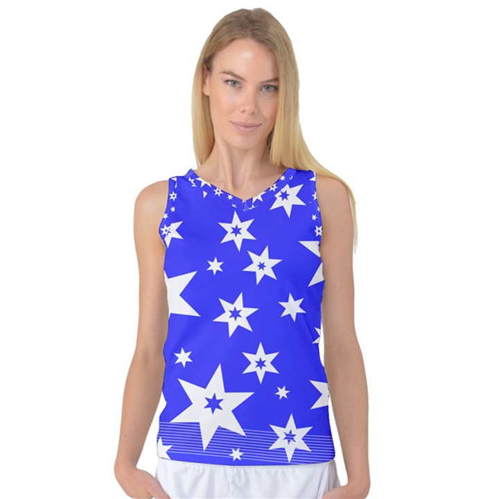 Star Background Pattern Advent Women s Basketball Tank Top