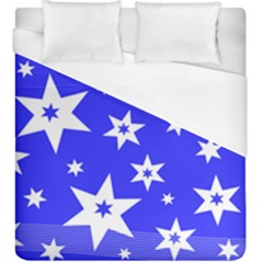 Star Background Pattern Advent Duvet Cover (king Size)