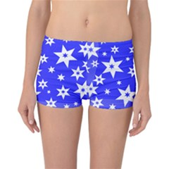 Star Background Pattern Advent Reversible Boyleg Bikini Bottoms