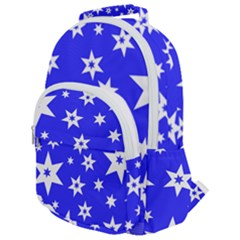 Star Background Pattern Advent Rounded Multi Pocket Backpack by HermanTelo