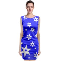 Star Background Pattern Advent Classic Sleeveless Midi Dress by HermanTelo