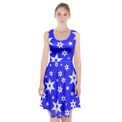 Star Background Pattern Advent Racerback Midi Dress by HermanTelo
