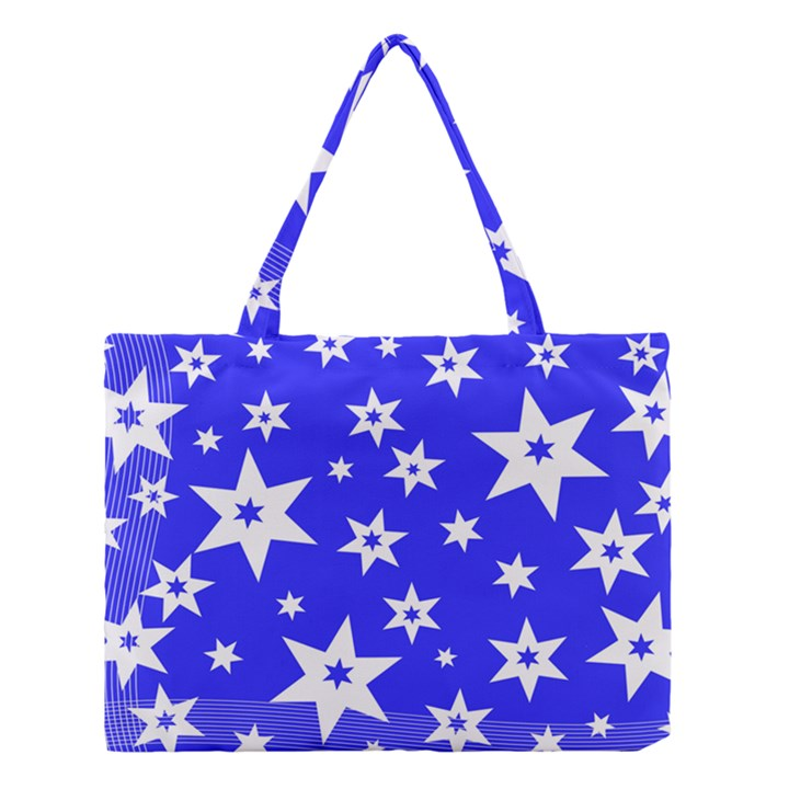 Star Background Pattern Advent Medium Tote Bag