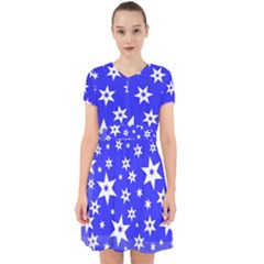 Star Background Pattern Advent Adorable In Chiffon Dress by HermanTelo
