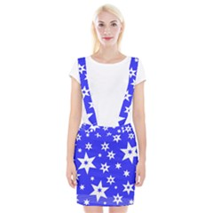 Star Background Pattern Advent Braces Suspender Skirt