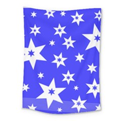 Star Background Pattern Advent Medium Tapestry by HermanTelo