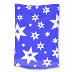 Star Background Pattern Advent Large Tapestry by HermanTelo
