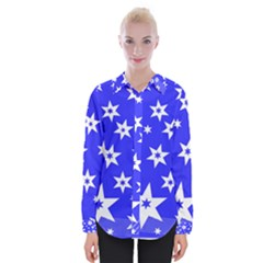Star Background Pattern Advent Womens Long Sleeve Shirt