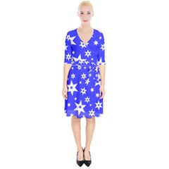 Star Background Pattern Advent Wrap Up Cocktail Dress