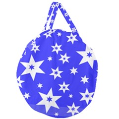Star Background Pattern Advent Giant Round Zipper Tote