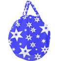 Star Background Pattern Advent Giant Round Zipper Tote View1