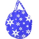 Star Background Pattern Advent Giant Round Zipper Tote View2