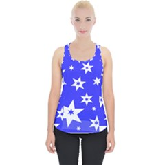 Star Background Pattern Advent Piece Up Tank Top