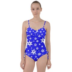 Star Background Pattern Advent Sweetheart Tankini Set